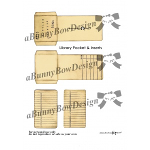 Library Pocket & Insert 01