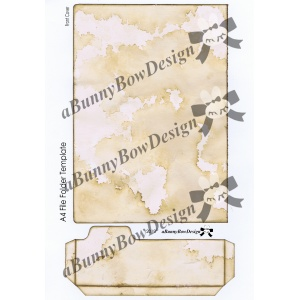File Folder Journal Anchor Page Kit - Coffee stained and blank templates